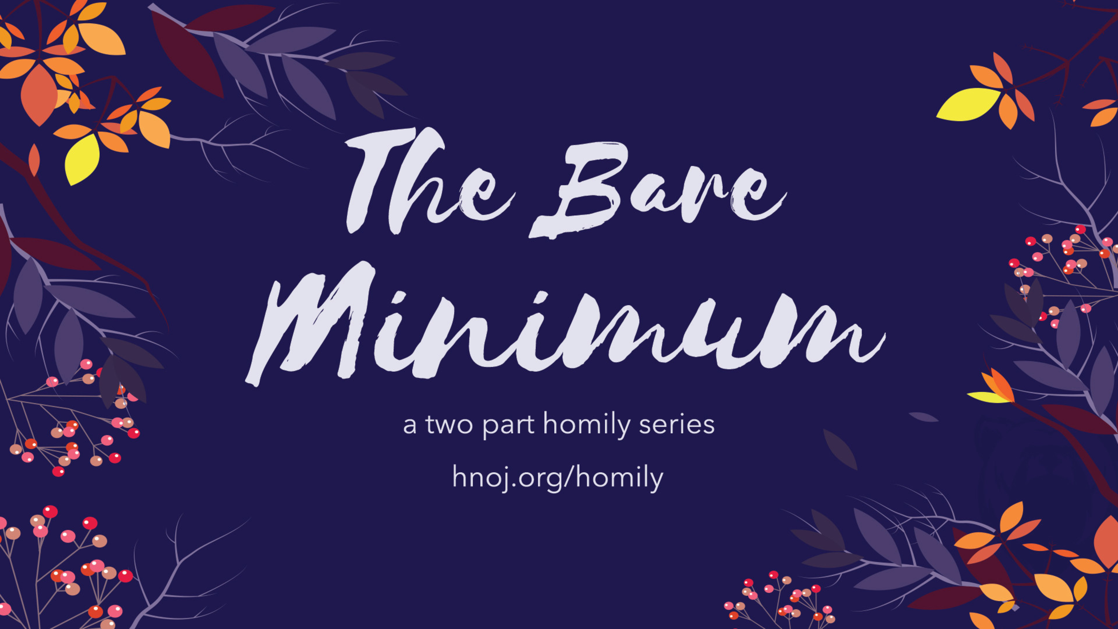 The Bare Minimum Homily Series