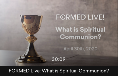 What Is Spiritual Communion Formed